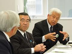 貝原俊民前兵庫県知事と自民党福島県議団との懇親会